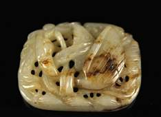 He-tian Jade Carved with a Bird Pendant Liao&jin