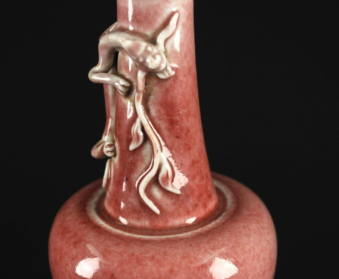 Cowpea Red Glaze Dragon Vase Qing Dynasty Kangxi Period - 5