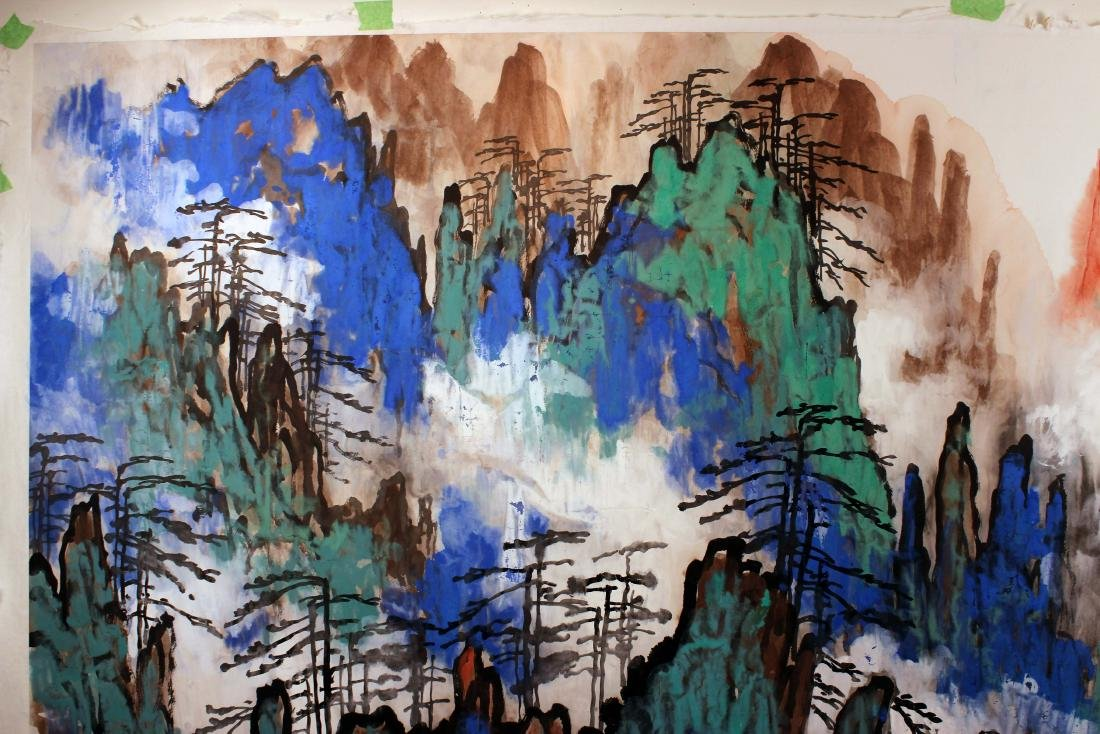 Liu Haisu Chinese Painting, Huang Shan  mountain peak - 6