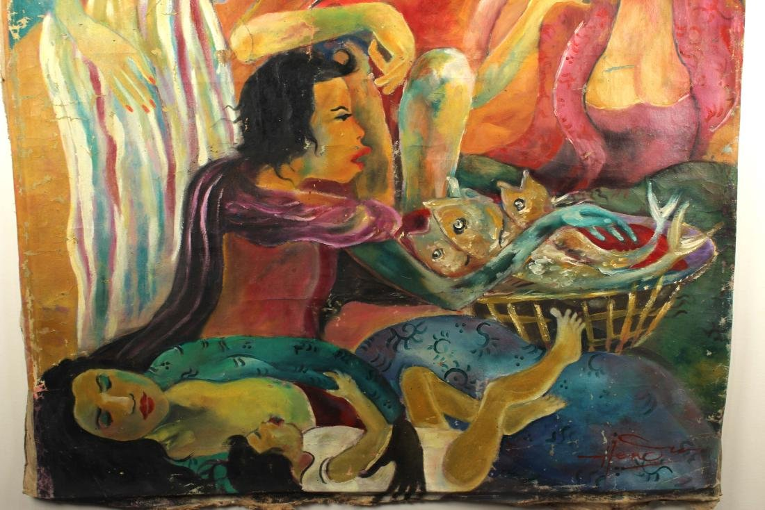 Hendra Gunawan, women and Fish, Oil on Canvas - 10