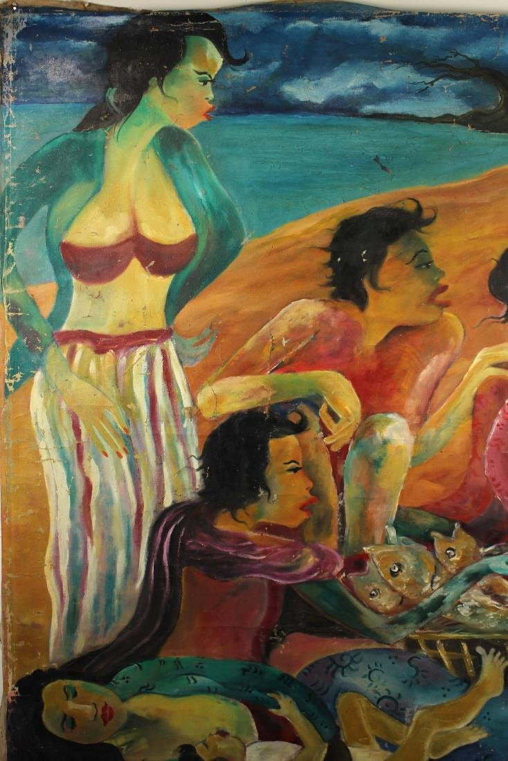 Hendra Gunawan, women and Fish, Oil on Canvas - 4