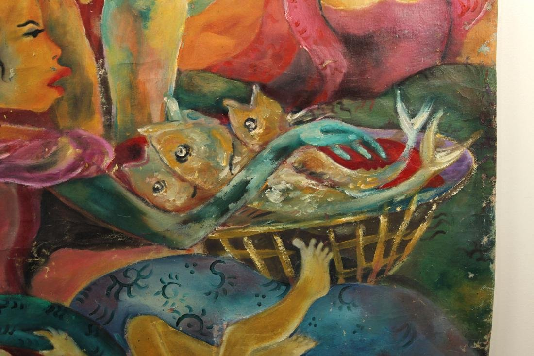 Hendra Gunawan, women and Fish, Oil on Canvas - 7