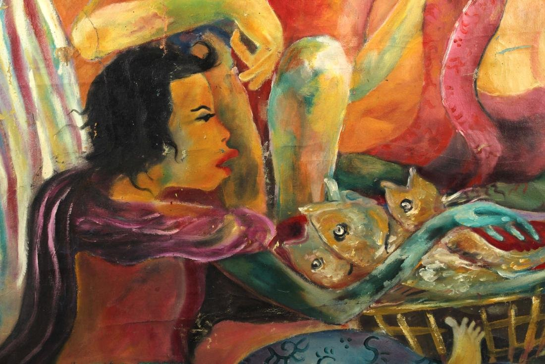 Hendra Gunawan, women and Fish, Oil on Canvas - 8
