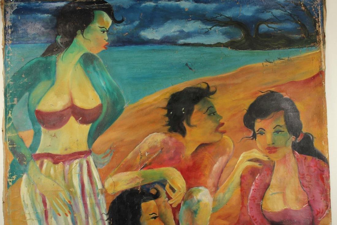 Hendra Gunawan, women and Fish, Oil on Canvas - 9