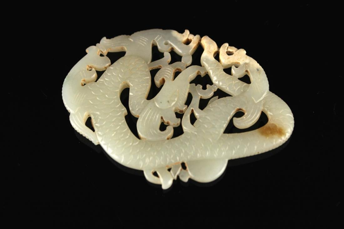 He-Tian Jade Carved with a Dragon Pendant Song Dyansty