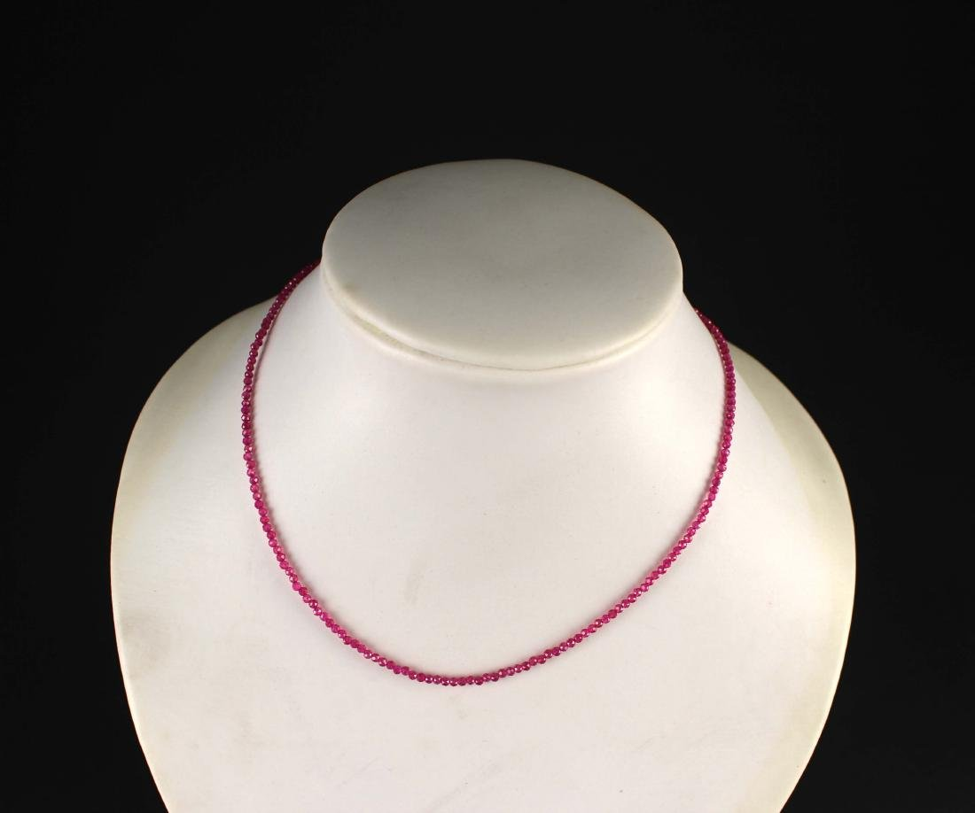 Smaller Ruby Bead Necklace