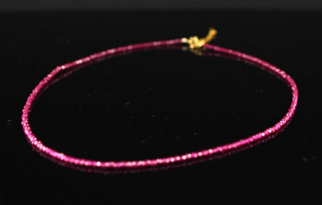 Smaller Ruby Bead Necklace - 2