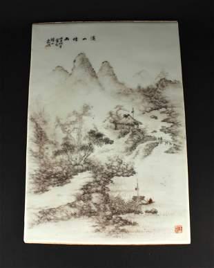 Ink Landscape Pattern Porcelain Boarding