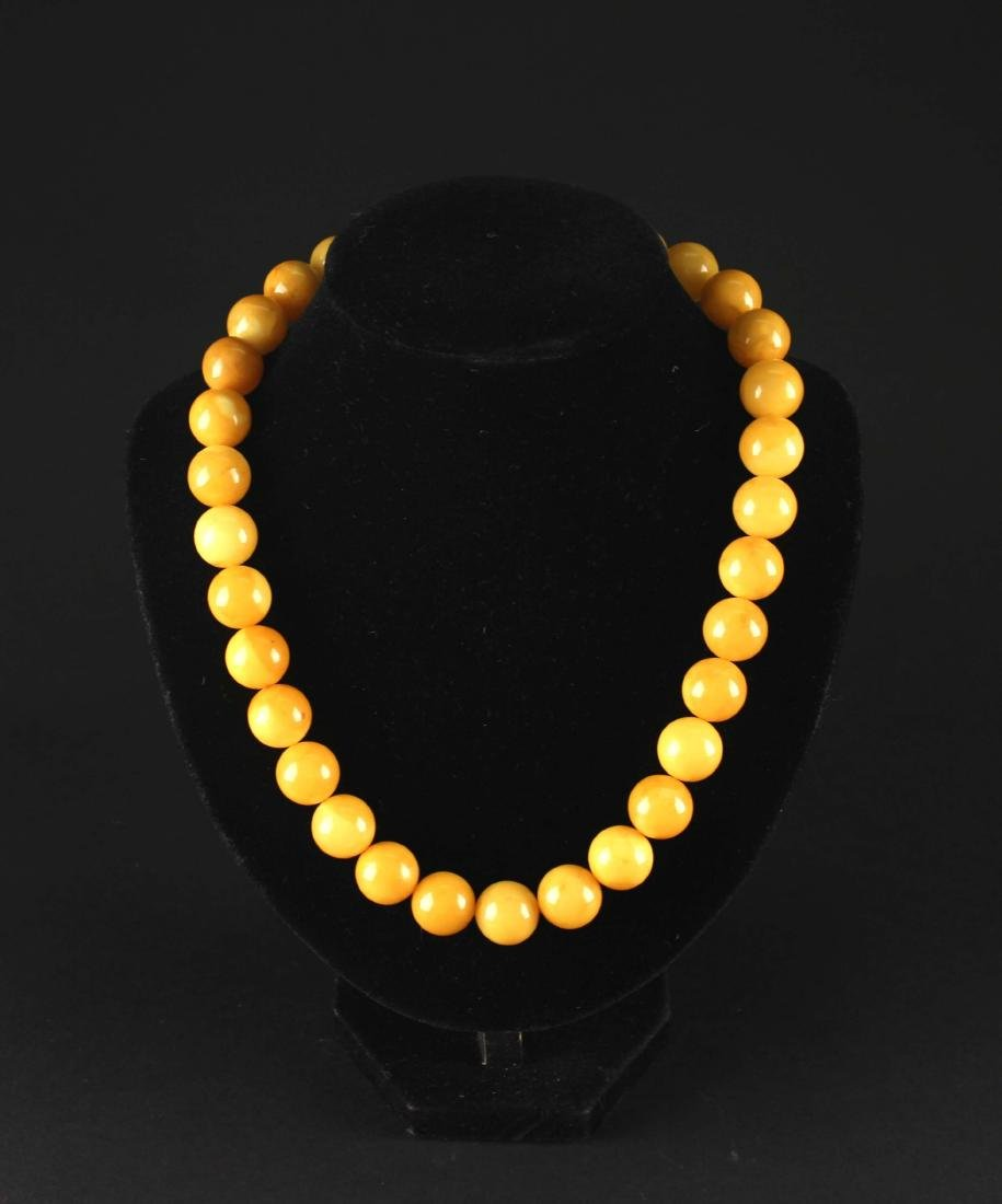 Yellow Amber Necklace