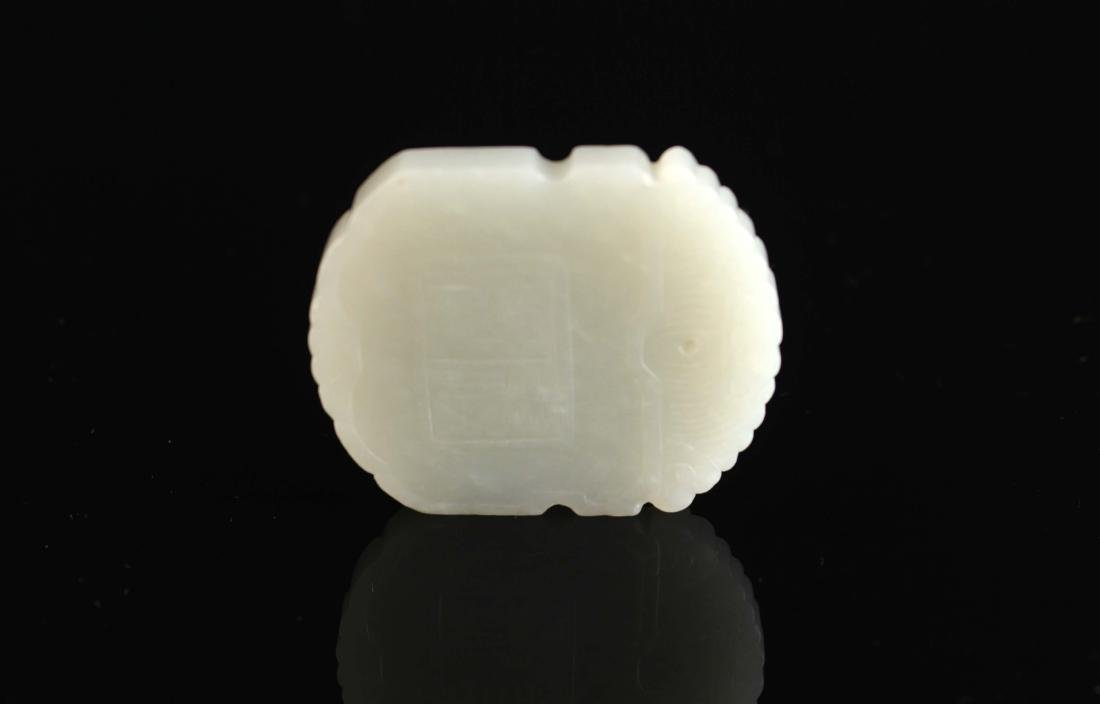 White Jade Carved with Hop Immortals Pendant
