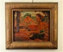 Adrien Jean Le Mayeur De Merpres Oil Painting on Canvas