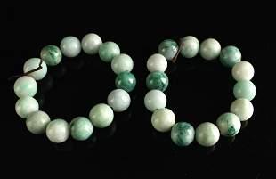 Two Jadeite Bracelets