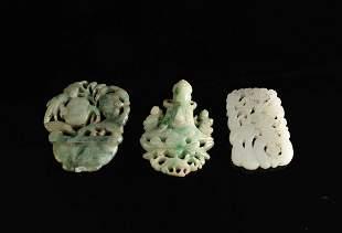Three Jadeite Pendant