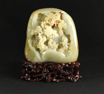 He-tian Jade Carved with Traditional Chinese Story