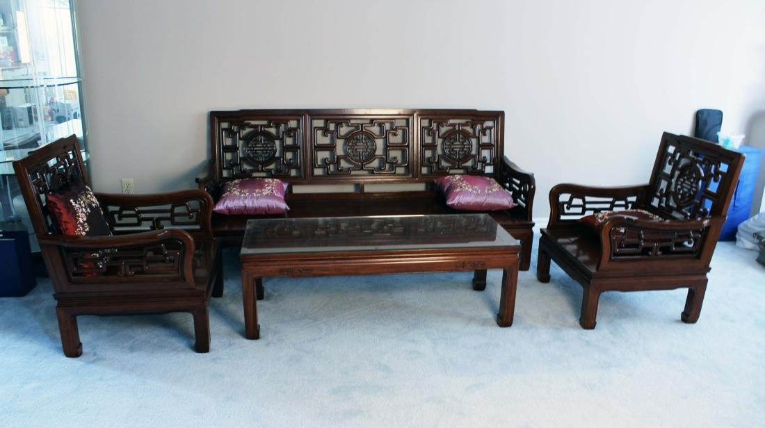 Rosewood Sofa Four Pieces Of Set Made In1970s