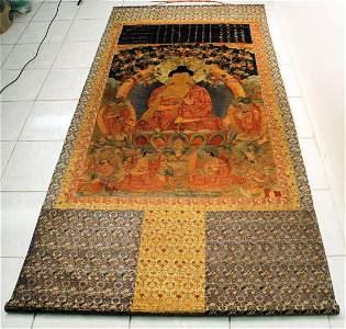 Embroidery Kassapa Buddha Thang-ka Qing Dynasty
