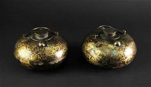 Pair of Copper Hands Warm Furnace