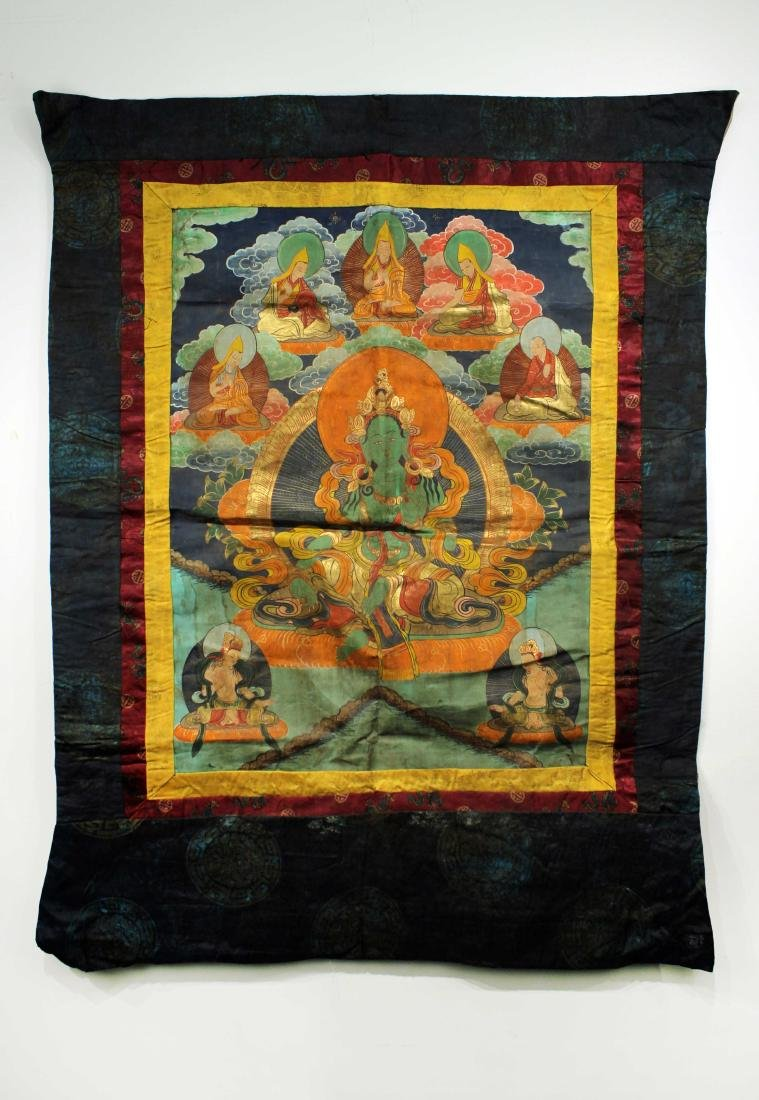Thangka the Late of Qing Dynasty