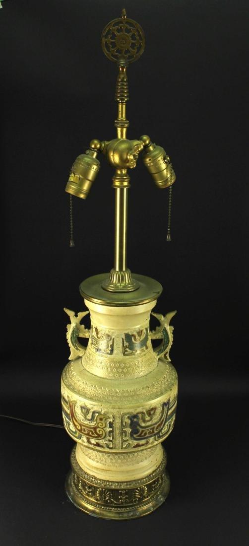 Japanese Cloisonne Vase Lamp