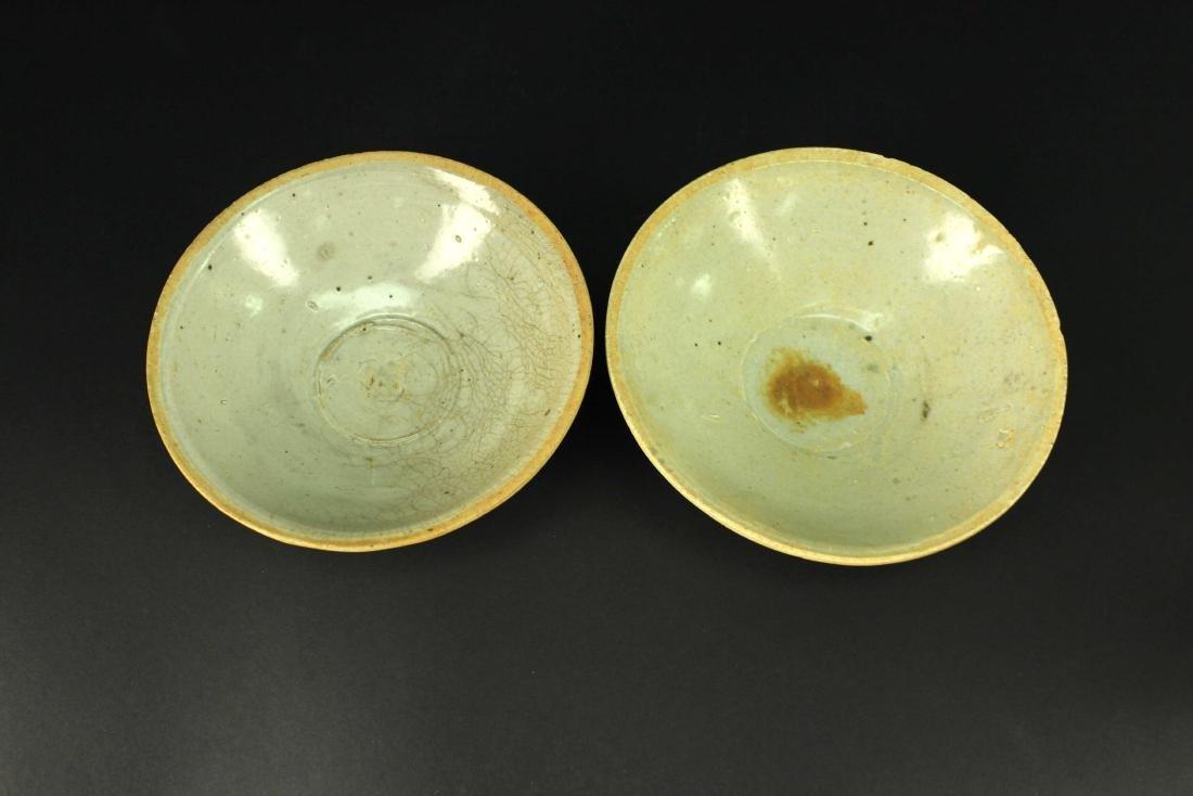 Two of Celadon Glaze Bowl Song--Yuan Period