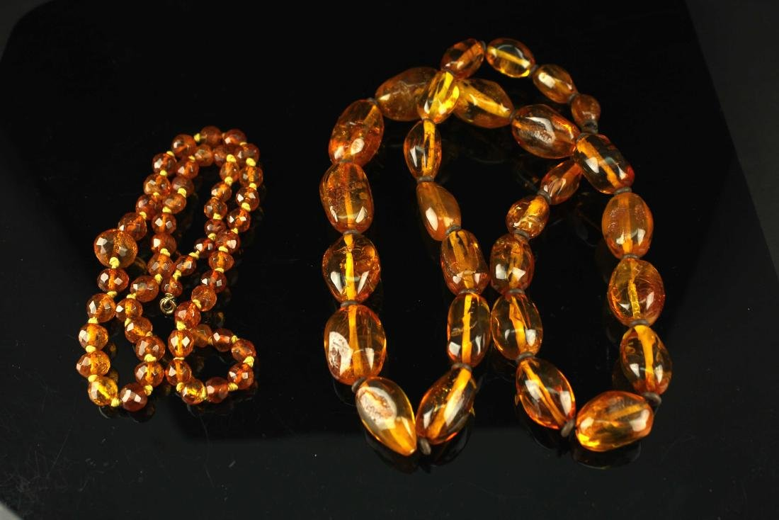 Two Amber Necklace