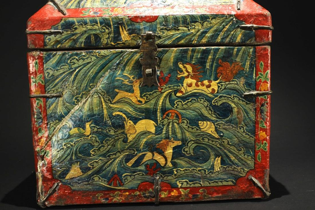 Leather Bookcase Qing Dynasty Period - 2