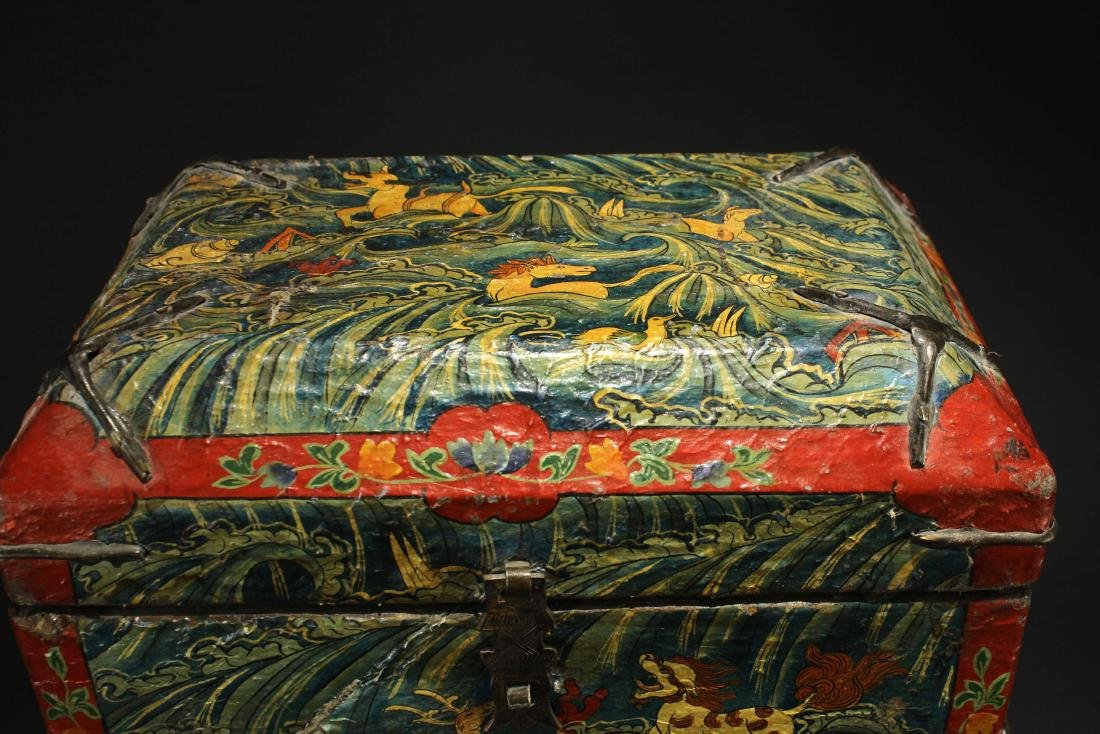 Leather Bookcase Qing Dynasty Period - 3