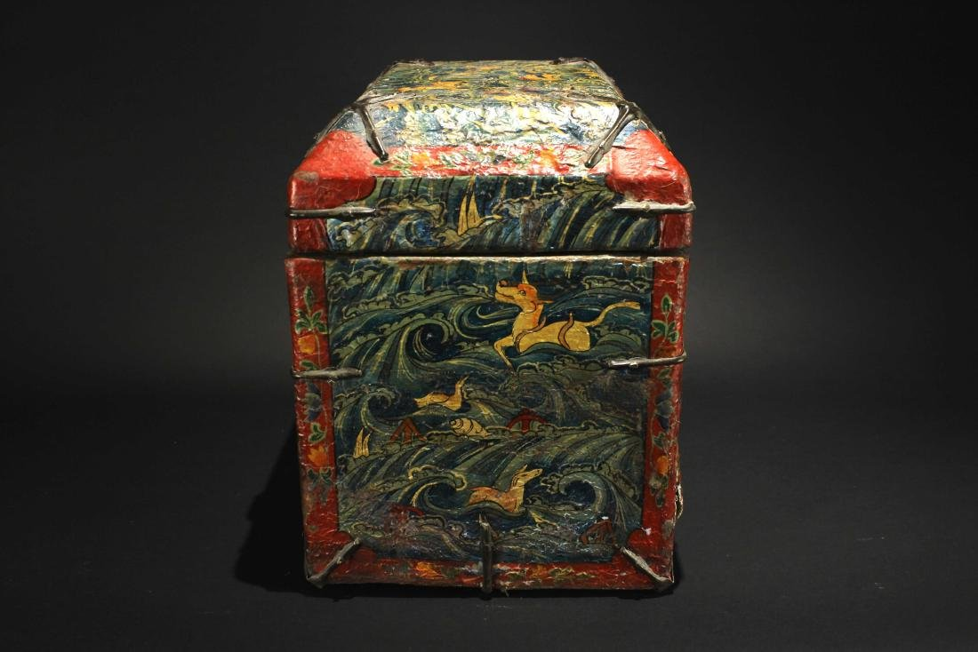 Leather Bookcase Qing Dynasty Period - 4