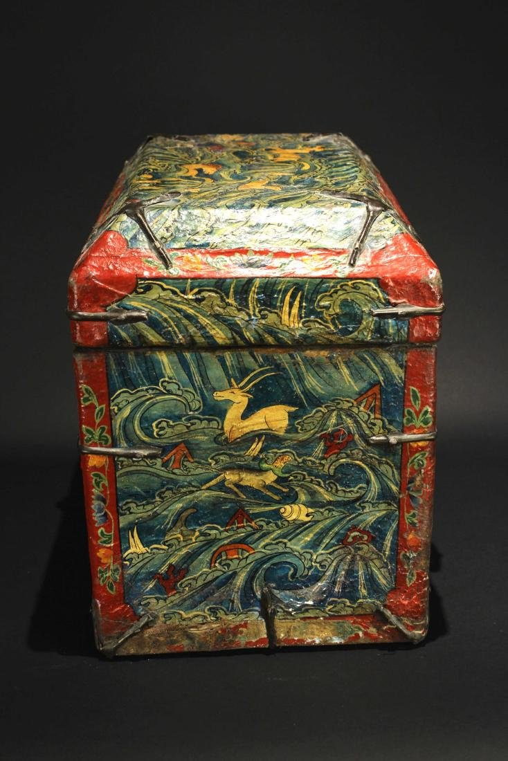 Leather Bookcase Qing Dynasty Period - 6