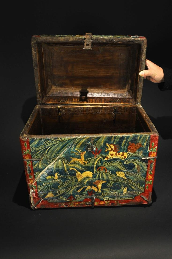 Leather Bookcase Qing Dynasty Period - 7