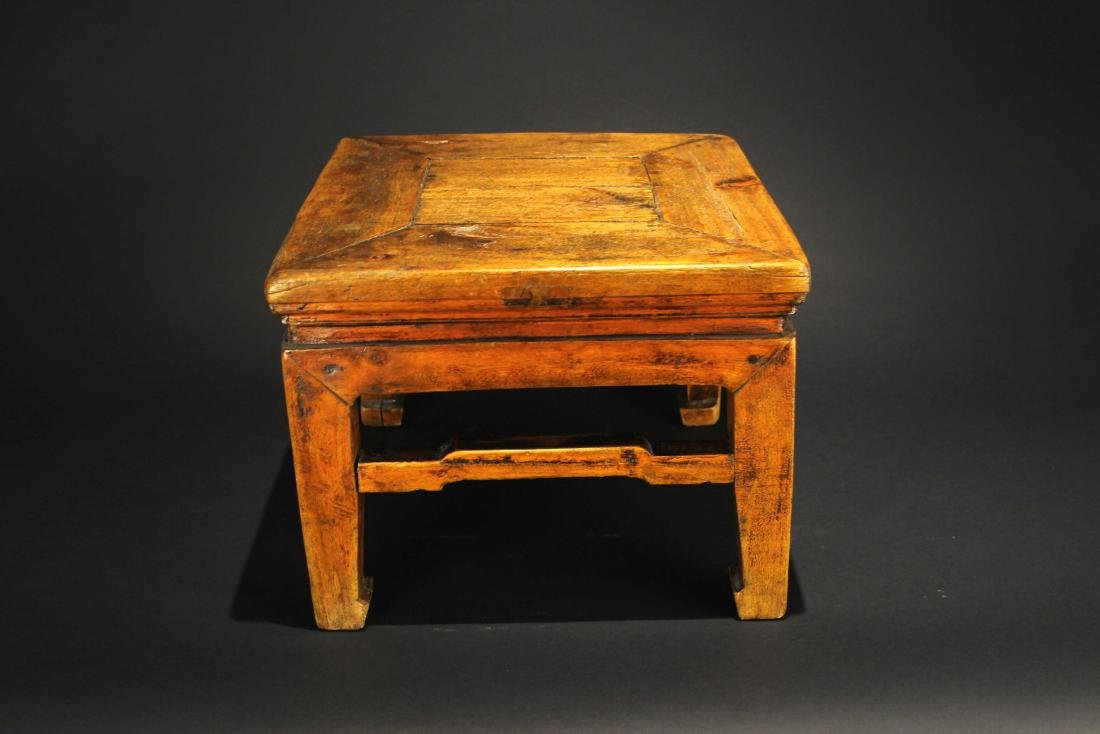 Antique Wooden Small Square Stool