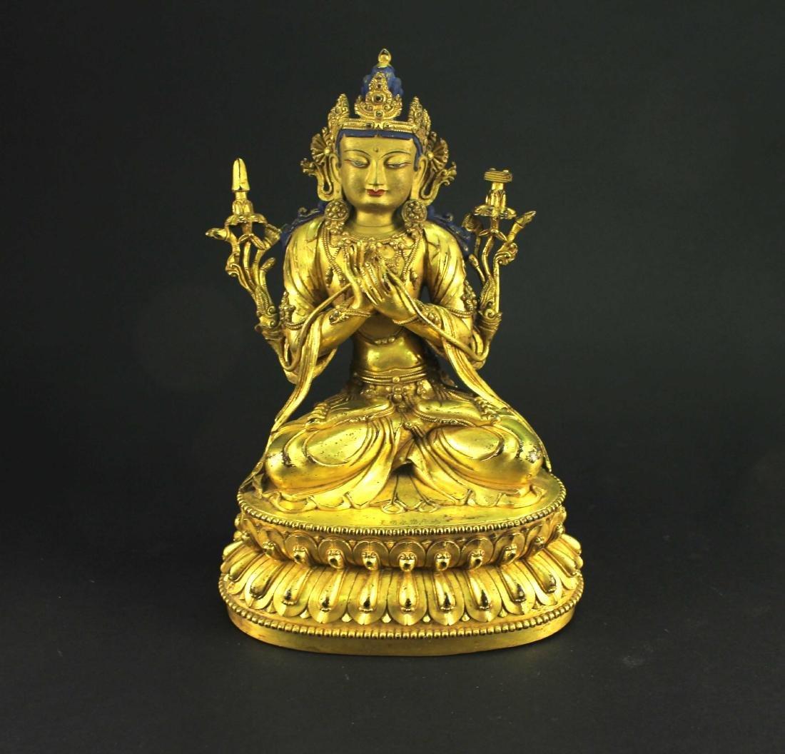Bronze Gilt Buddha Statue Ming Yongle Mark