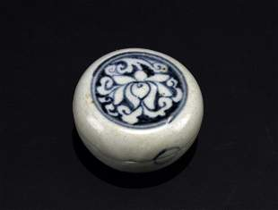 Blue and White Box Ming Dynasty Period