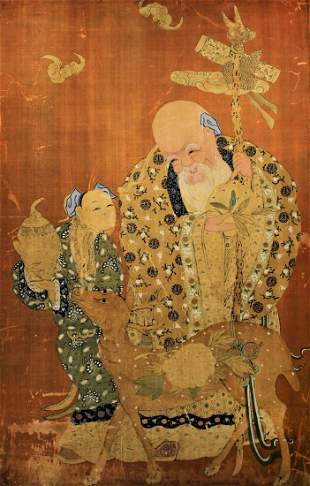 K'o-ssu with Longevity Immortal Figure Qing Dynasty