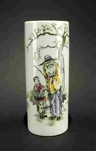 Famille Rose Vase Republican Period