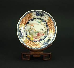 Blue&White Famille Rose Bowl Qianlong Period