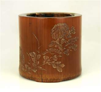 Chinese Bamboo Carving Bi-Tong Qianlong Period