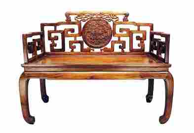 Huanghuali Double Armchair Made in Qing Dynasty Period