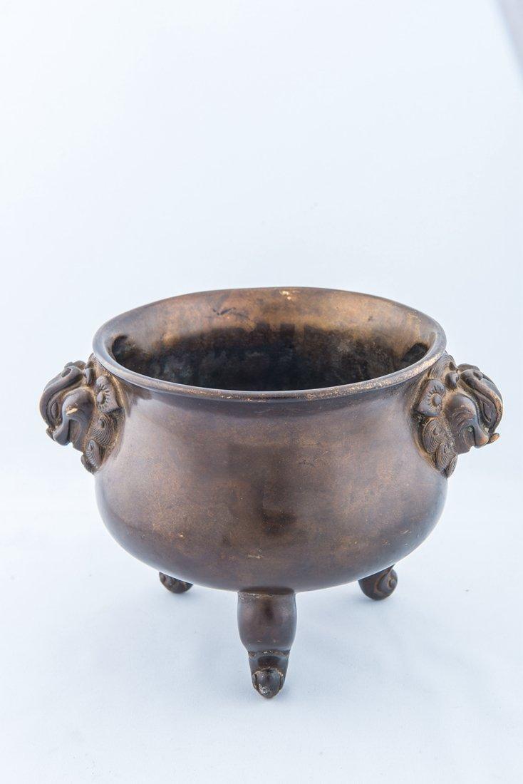 Bronze Tripod Censer-Ming Longqing Mark