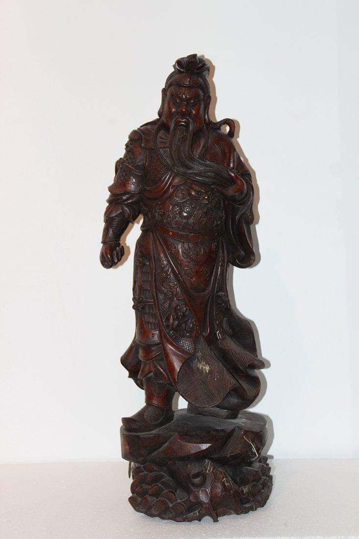 Rosewood GUAN GONG Sculpture
