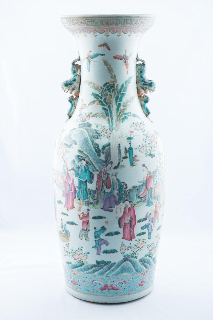 Finely Large Famille Rose Vase