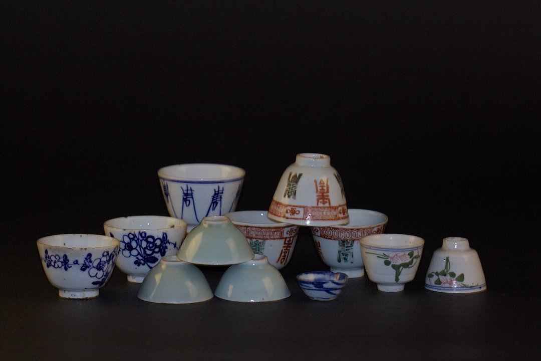 Twelve Pieces of teacup, the Late of Qing Dynasty