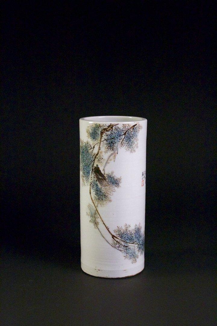 Light Colorful Porcelain Baluster vase, Zhangshibao
