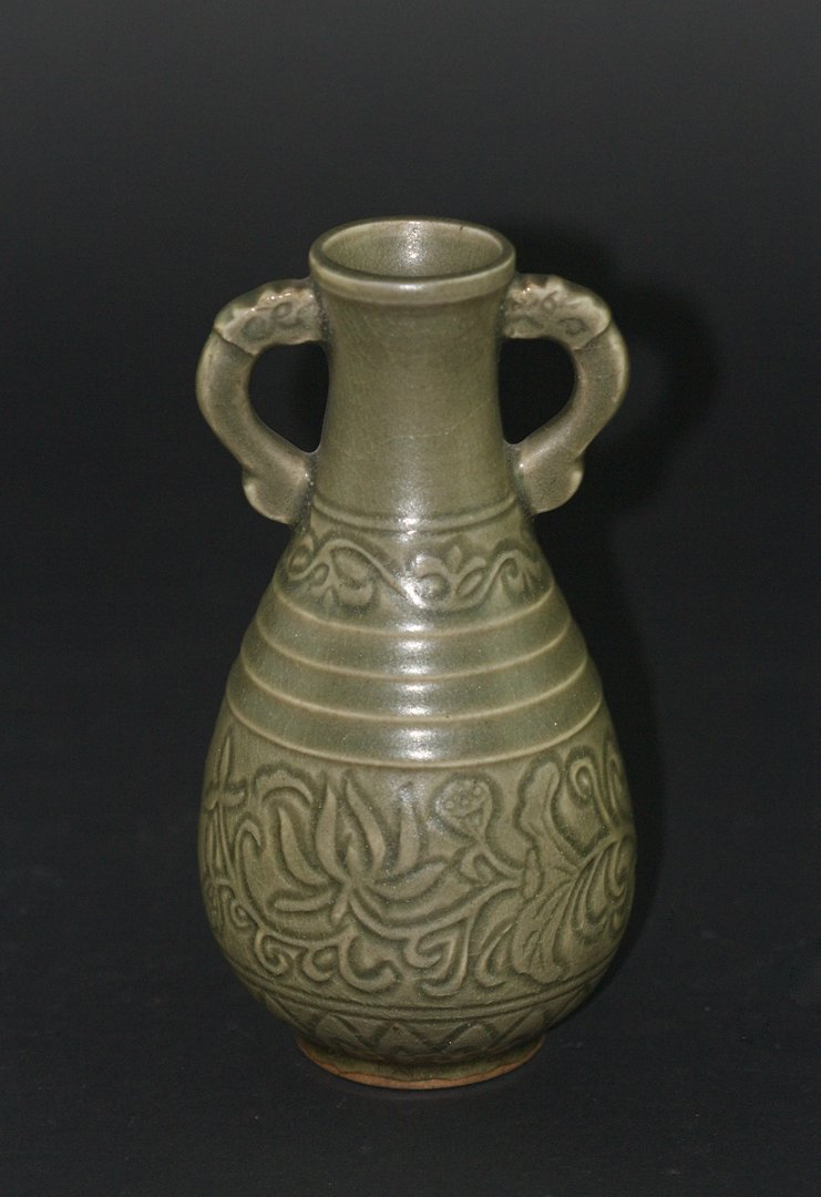 Celadon Glaze YAOZHOU Kiln Style Vase, Republican