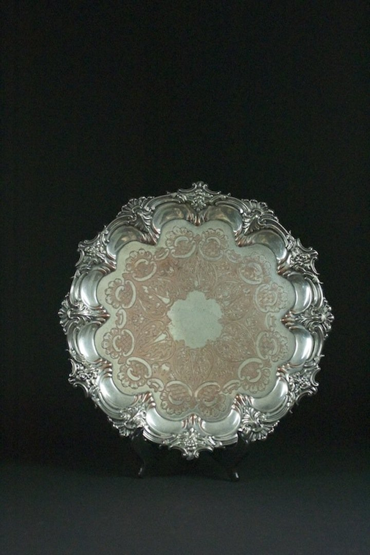 Sheffield Pated Silver Large Dish