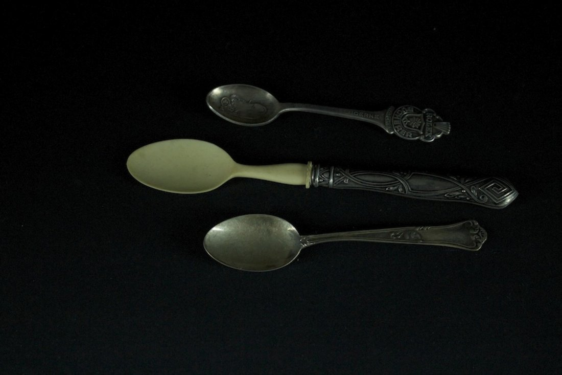 Three Pieces of silver Small Spoons