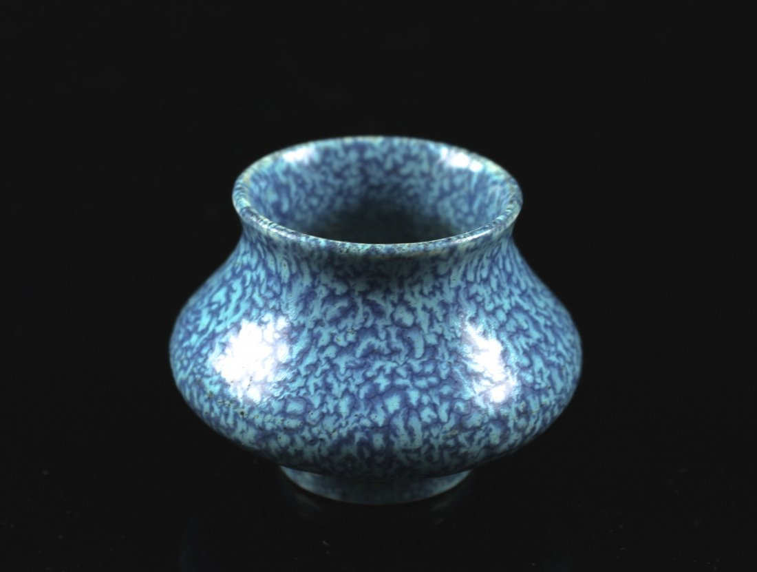 Robin's Egg Water Container for Inkstone QIANLONG