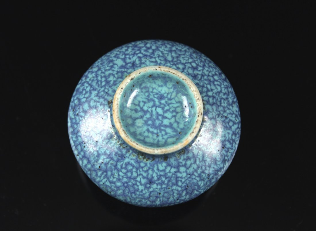 Robin's Egg Water Container for Inkstone QIANLONG - 3