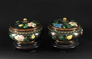 Pair of Cloisonne Jar with Cover Republican Period