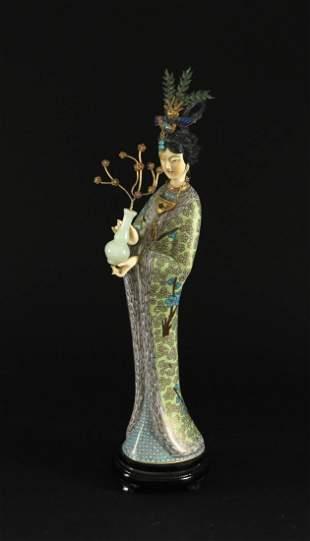 Cloisonne Lady Decorative Item
